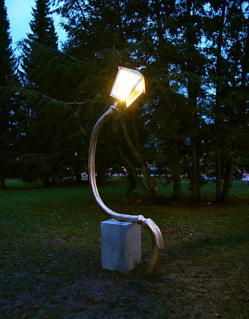 Brons, LED, granit